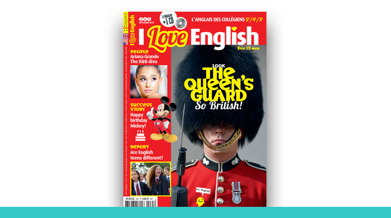 couverture du magazine I Love English 2020