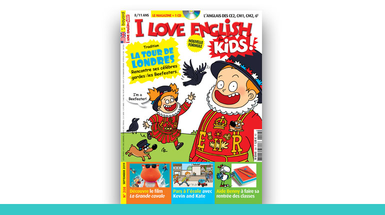couverture du magazine I Love English for Kids 2020