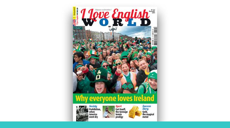 couverture du magazine I Love English World 2020