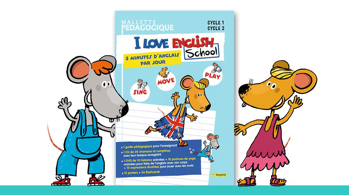Couverture de la mallette pédagogique I Love English School