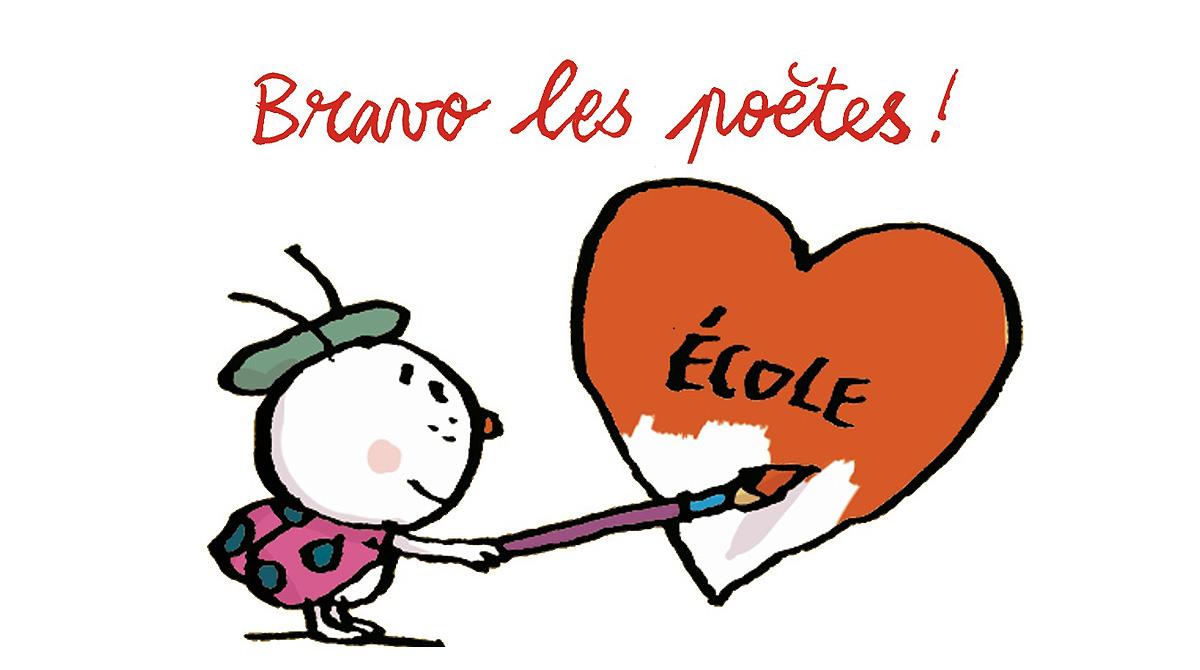 """© Pascal Lemaître - Résultats du concours """"Écris un poème sur ce que tu aimes à l'école"""""""