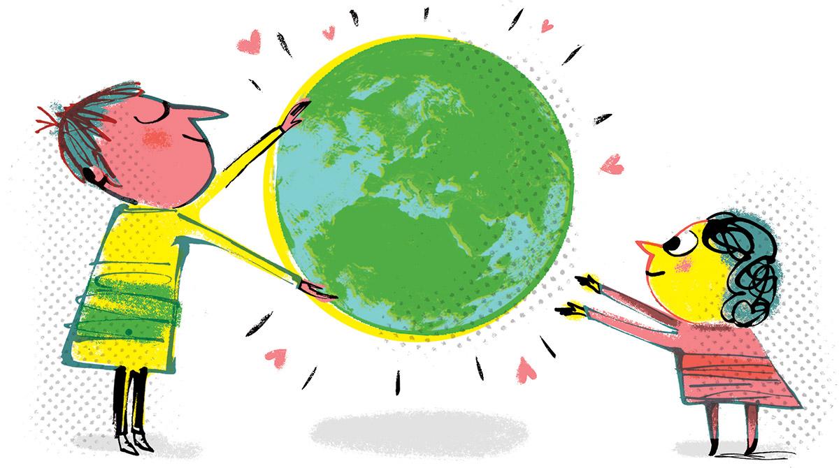 Fred Benaglia. Bayard Jeunesse s'engage pour la protection de la planète.